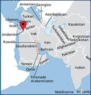 Jordanien Karte.Jordanien